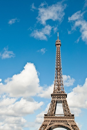The Eiffel Tower (nickname La dame de fer, the iron lady),The tower has become the most prominent symbol of both Paris and France Stock Photo - 10225376