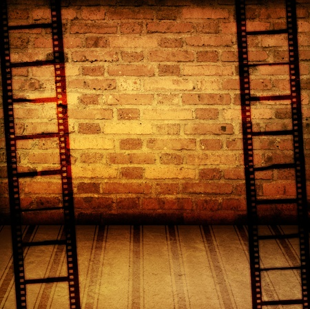 old film: Great film strip for textures and backgrounds frame  Stock Photo