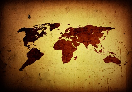 World map vintage artwork - perfect background with space Stock Photo - 10277549