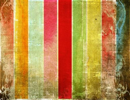 antiek behang: zeer gedetailleerde grunge achtergrond frame met ruimte