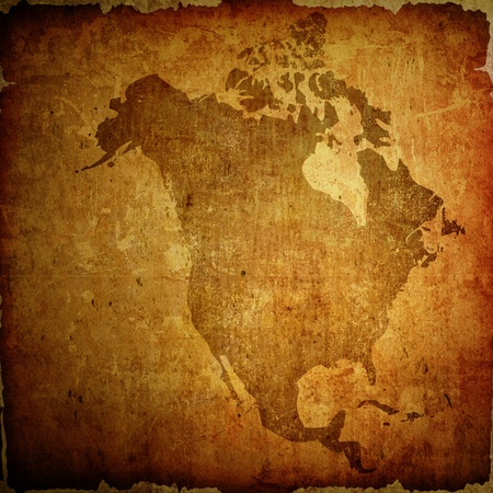 aged America map vintage artwork for your design photo