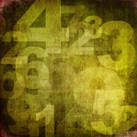 numbers abstract: retro style numbers-background in grunge style