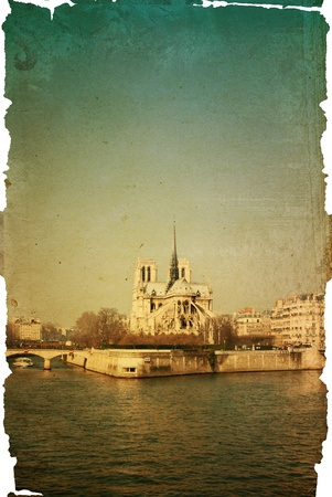 old-fashioned paris france -  with space for text or image Stock Photo - 10991887