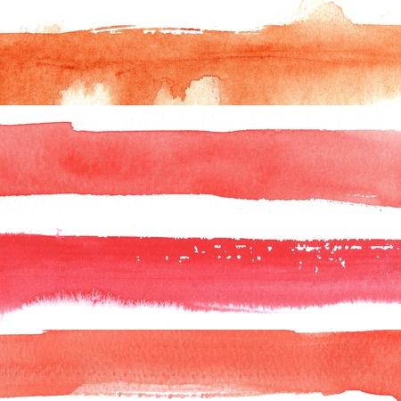 watercolor paints on a rough texture paper photo