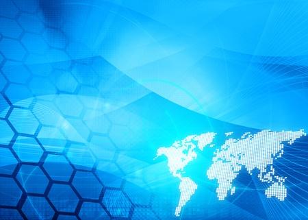 Atlas: Weltkarte Technologie Stil - perfekte Hintergrund mit Raum