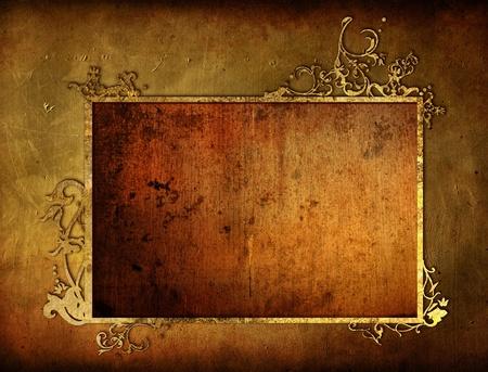 parchemin: Cadre tr�s d�taill�es textur�e grunge Banque d'images