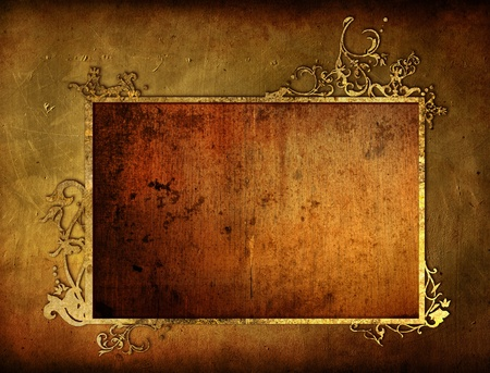 parchments: highly Detailed textured grunge background frame Stock Photo