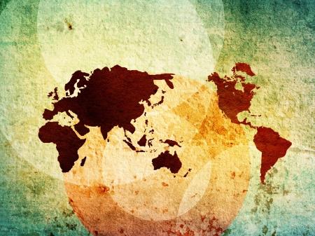 cartina del mondo: mappa del mondo di fondo opere d'arte d'epoca perfetta con lo spazio Archivio Fotografico