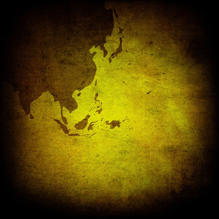 aged asia map vintage artwork for your design Stock Photo - 12052298