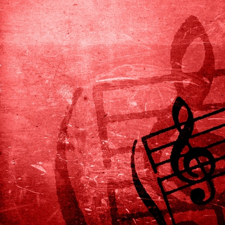 grunge music background: Abstract grunge melody textures and backgrounds with space Stock Photo