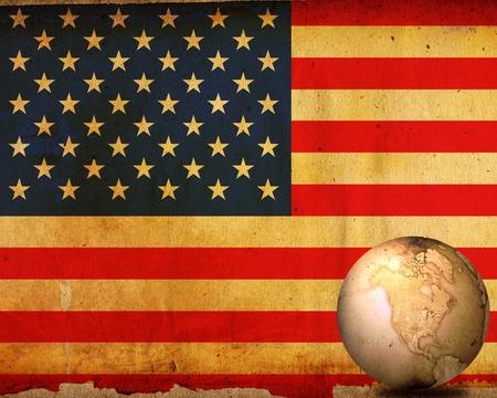 aged America map-vintage artwork Stock Photo - 12335573