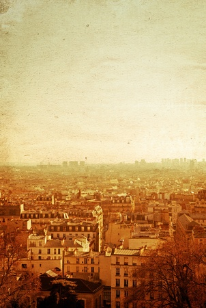 antique city view in Europe photo
