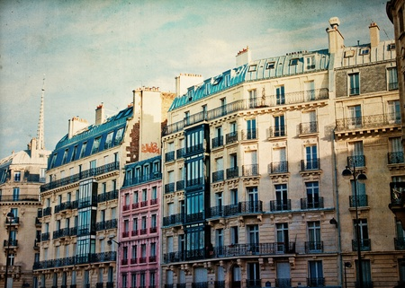 beautiful Parisian sunshine streets view paris,france Europe photo