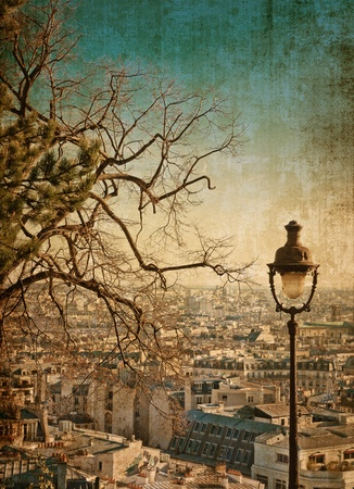 historic and vintage: beautiful Parisian streets - with space for text or image Stock Photo