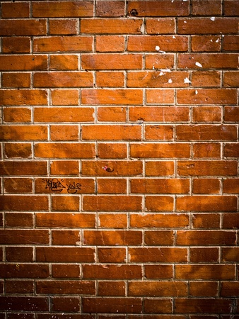 Old red brick wall backgrounds Stock Photo