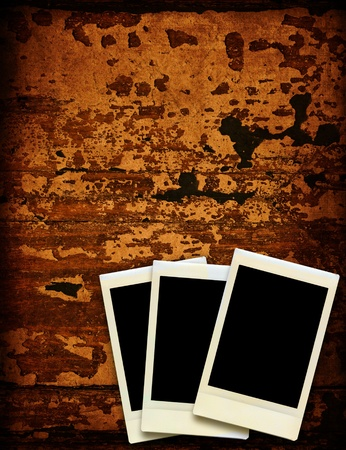 vintage instant photo with grunge background Stock Photo - 12763090