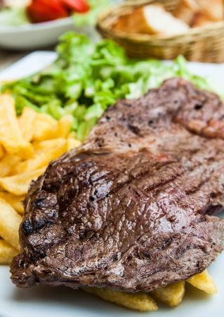 Delicious juicy steak beef meat Stock Photo - 13300976