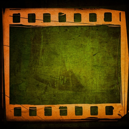 Great film strip for textures and backgrounds with space photo