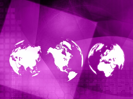 world map technology style - perfect background with space for text or image photo