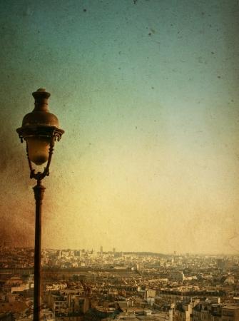 paris vintage: hermosas calles de París-con espacio para texto o imagen Foto de archivo