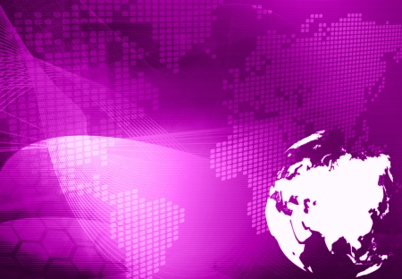 Asia map technology style artwork for your design Stock Photo - 14501963