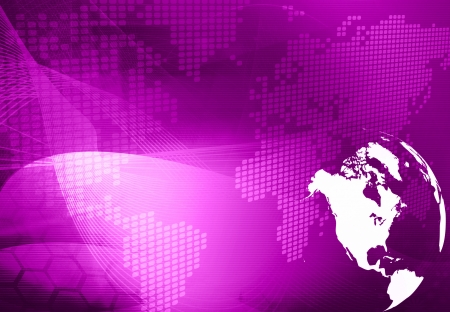 America map technology style artwork for your design Stock Photo - 14501967