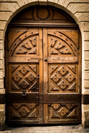 wooden door grunge textures and backgrounds Stock Photo - 14599971
