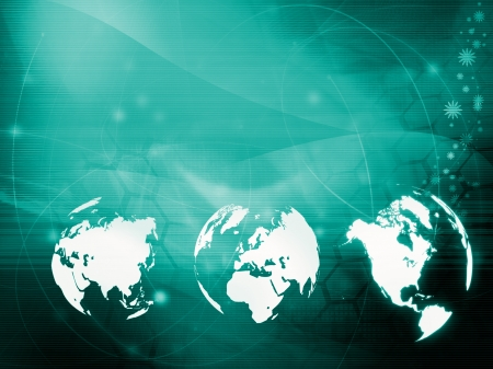 world map technology style for your design photo