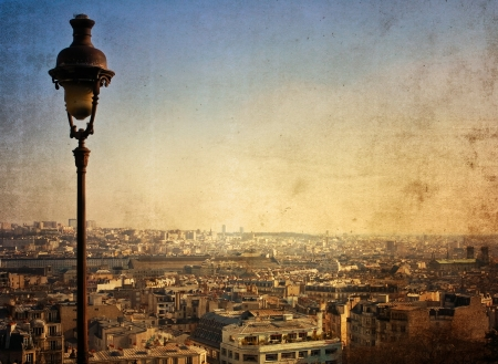 abrasion: beautiful Parisian streets - with space for text or image Stock Photo