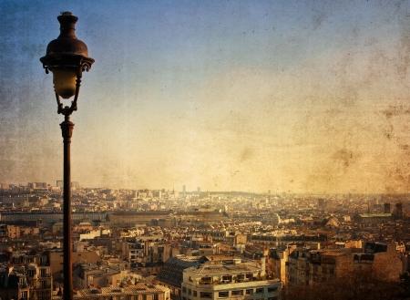 montmartre: belles rues de Paris - avec espace pour le texte ou l'image
