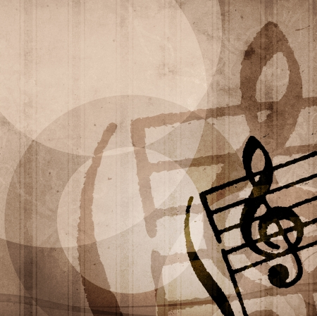 sheet music: Abstract grunge melody textures and backgrounds with space Stock Photo