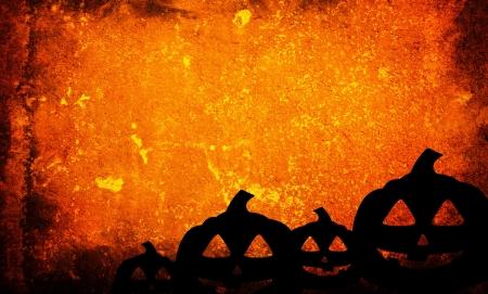Halloween-Kürbisse mit Kürbis Freunden