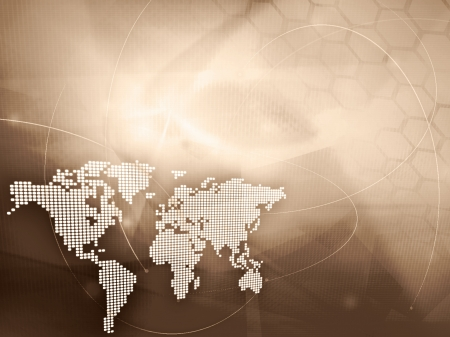continental: world map technology style - perfect background with space for text or image