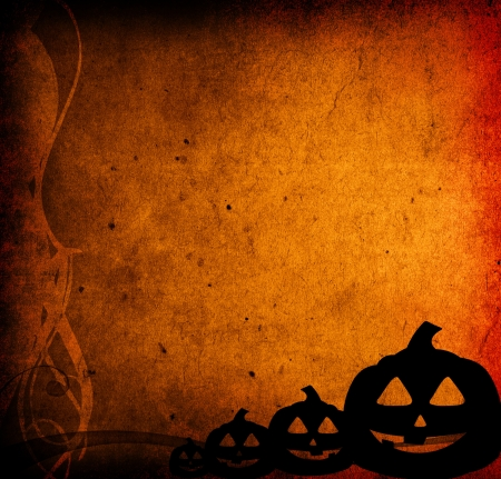 entertainment background: Halloween pumpkins with pumpkin friends