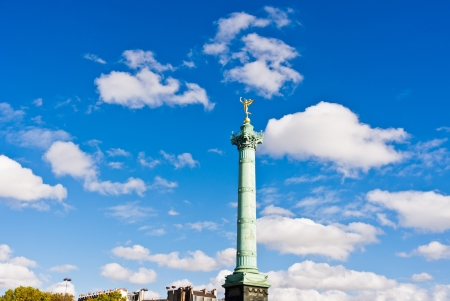 Place de la Bastille in Paris photo