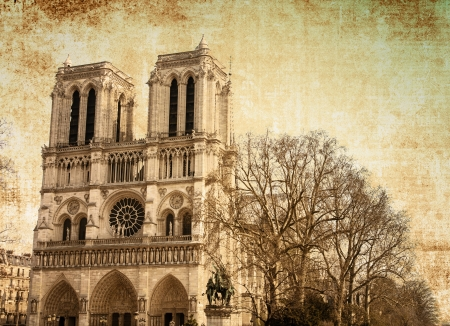 beautiful view Notre Dame Cathedral in paris france (French for Our Lady of Paris) Stock Photo - 15935082