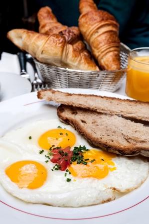 Breakfast - prepared egg under the sun Stock Photo - 16082684