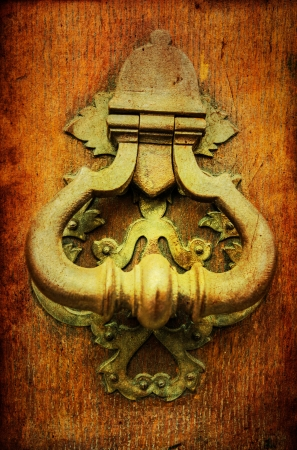 old-fashioned wooden door grunge textures and backgrounds Stock Photo - 16097106