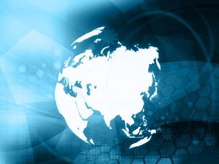 Azië kaart technologie stijl illustraties voor uw ontwerp
