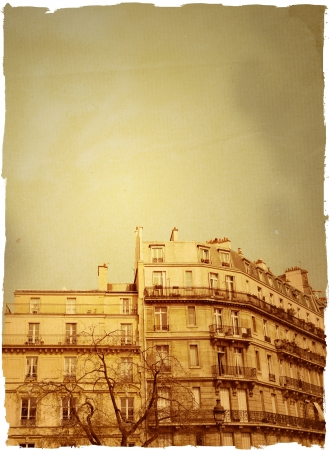 old-fashioned paris france -  with space for text or image Stock Photo - 16287672