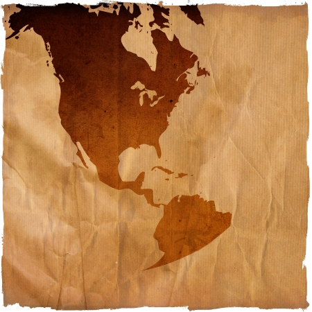 aged America map-grunge artwork photo