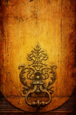 old-fashioned wooden door grunge textures and backgrounds photo