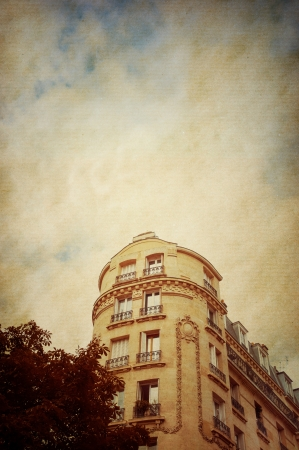 old-fashioned paris france -  with space for text or image Stock Photo - 16554928