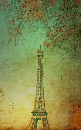 The Eiffel Tower (nickname La dame de fer, the iron lady),The tower has become the most prominent symbol of both Paris and France Stock Photo - 16554969