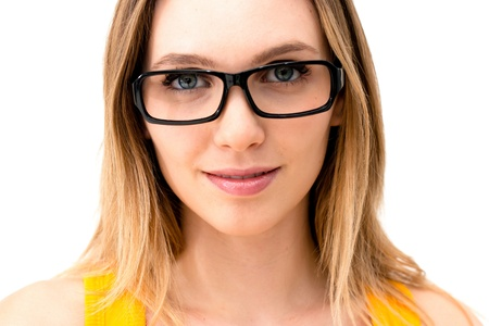 portrait of beautiful woman in glasses Stock Photo - 16575336
