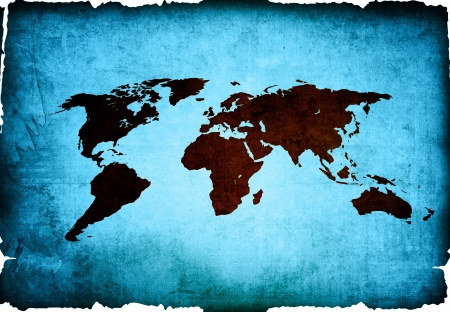 world map vintage artwork - perfect background with space photo