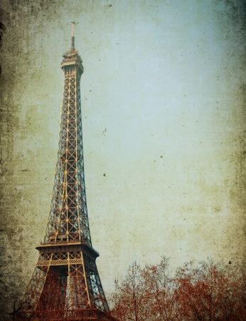 The Eiffel Tower (nickname La dame de fer, the iron lady),The tower has become the most prominent symbol of both Paris and France Stock Photo - 16831544