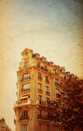 old-fashioned paris france -  with space for text or image Stock Photo - 16837176