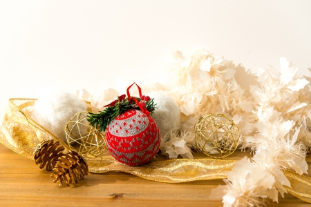 christmas balls over White background photo
