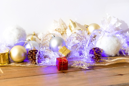 Christmas decoration White background photo